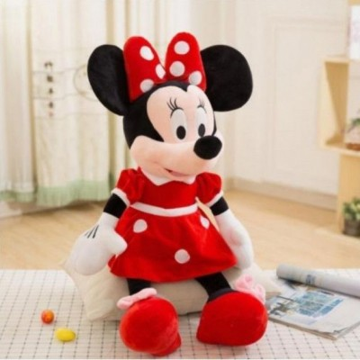 Mascota din plus Minnie Mouse rochita rosie 1 Metru