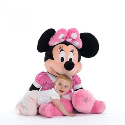 Mascota din plus Minnie Mouse rochita roz 1 Metru