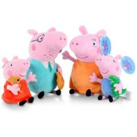 Set 4 figurine din plus Peppa Pig 20 cm