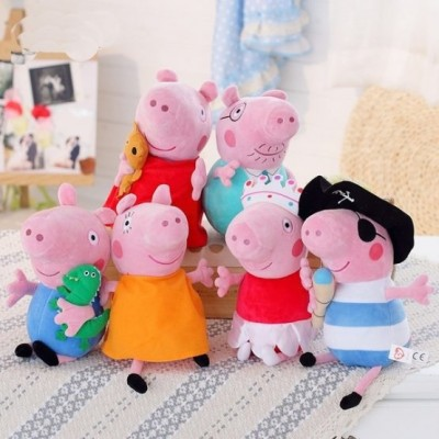 Set 6 figurine din plus Peppa Pig