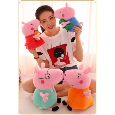 Set 4 figurine din plus Peppa Pig 40 cm