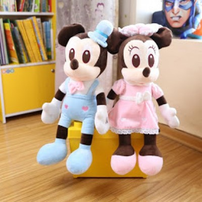 Set 2 mascote din plus Mickey si Minnie Mouse 1m