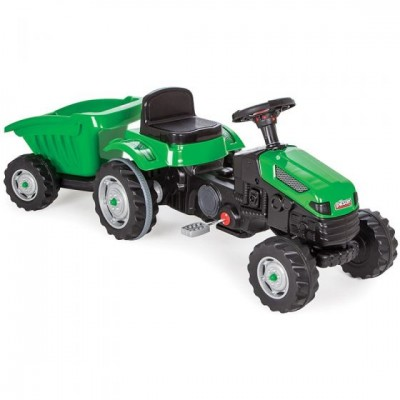 Tractor cu remorca Rolly Toys verde