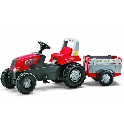 Tractor cu remorca si pedale Rolly Toys