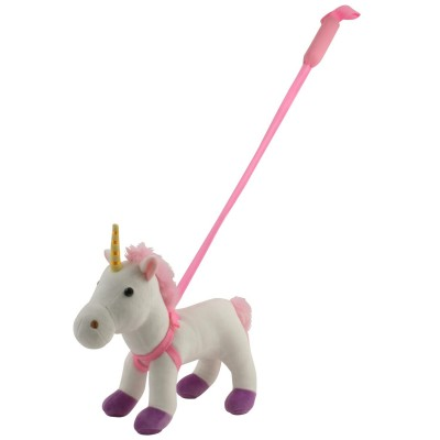 Unicorn din plus cu lesa