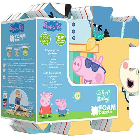 Covoras Puzzle Peppa Pig 8 piese